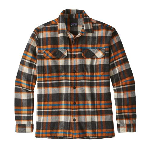 Patagonia Men's Long Sleeved Fjord Flannel Shirt (Marigold)